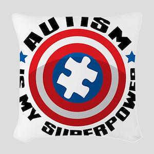 Autism Shield Woven Throw Pillow