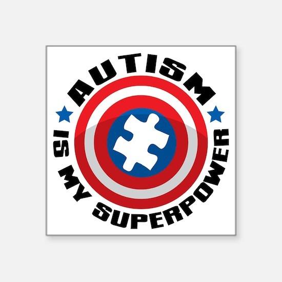 "Autism Shield Square Sticker 3"" x 3"""