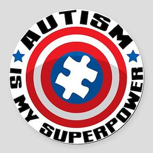Autism Shield Round Car Magnet