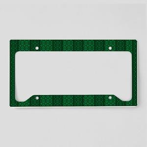 Green Diamonds 01 License Plate Holder