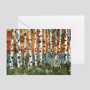 Watercolor painting greeting cards cafepress birch trees greeting card m4hsunfo
