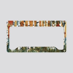 Birch Trees License Plate Holder
