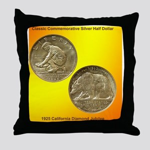 California Diamond Jubilee Half Dolla Throw Pillow