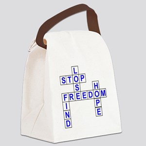 Our Message Crossword Canvas Lunch Bag