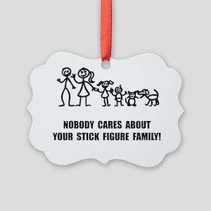 Anti Stick Figure Family Picture Ornament