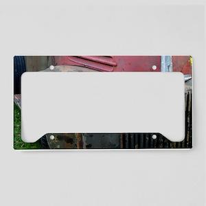 Rusty car License Plate Holder