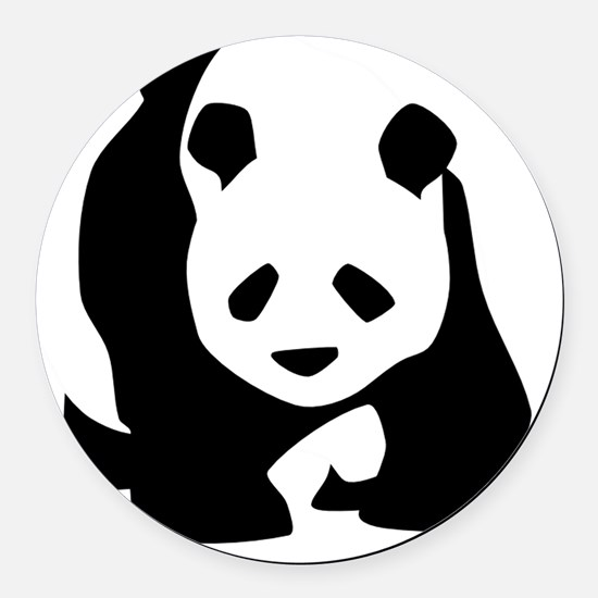 Panda Round Car Magnet