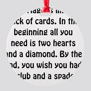 Marriage Cards Round Ornament