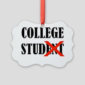College Stud Picture Ornament