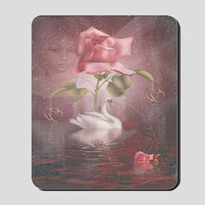 4SSwan Rose Mousepad