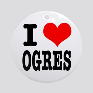 I Heart (Love) Ogres Ornament (Round)