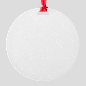 White Delicate Moments Logo Round Ornament