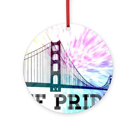 SF Pride Round Ornament