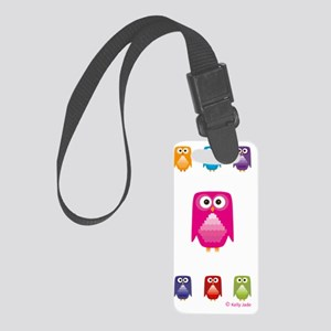 Cute & colourful owls Small Luggage Tag
