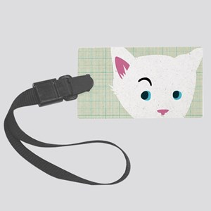 Skeptical Kitty GRID Large Luggage Tag