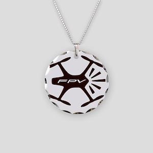 FPV Quad Pilots Necklace Circle Charm