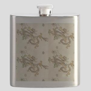 Golden Asian Dragon Flask