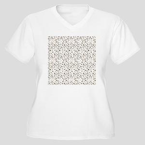 Seashells Women's Plus Size V-Neck T-Shirt