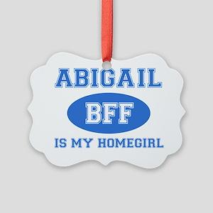 Abigail name designs Picture Ornament