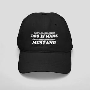 Mustang pet designs Black Cap