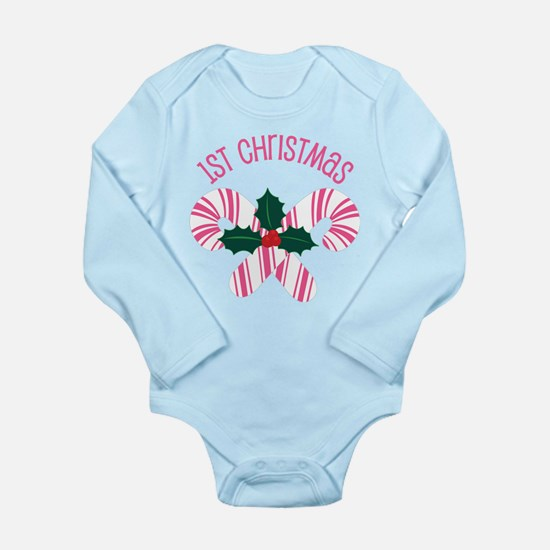 Cute 1st Christmas Candy Cane Body Suit