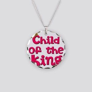 Child of the King with Crown Necklace Circle Charm