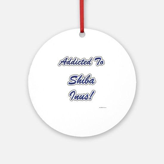 Shiba Inu Addicted Ornament (Round)