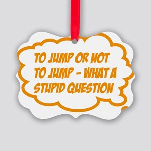 jump Picture Ornament