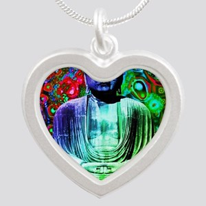 Life Tripping With Buddha Silver Heart Necklace