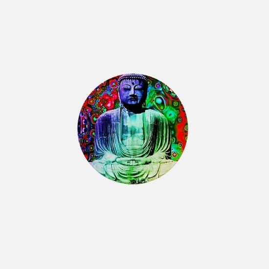 Life Tripping With Buddha Mini Button