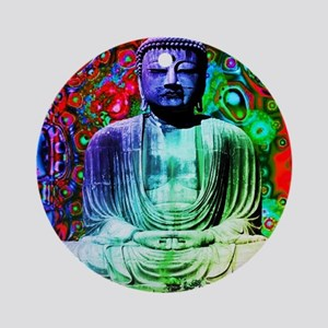 Life Tripping With Buddha Round Ornament