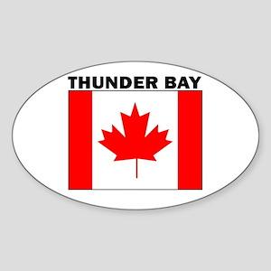 Thunder Bay, Ontario Oval Sticker