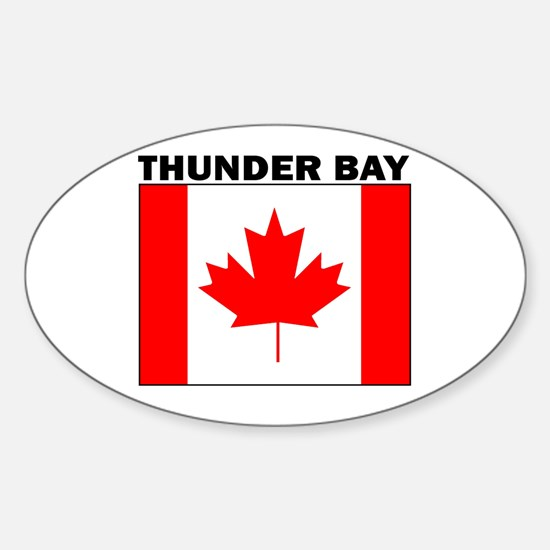Thunder Bay, Ontario Oval Bumper Stickers