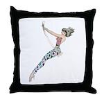 Girl on Swing Throw Pillow