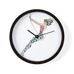 Girl on Swing Wall Clock