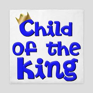 Child of the King with Crown - Jesus C Queen Duvet