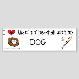 i love watching baseball with my  Sticker (Bumper)