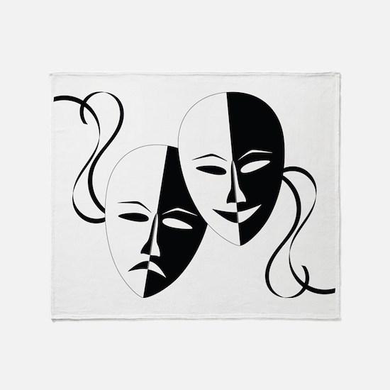 Theater Masks Throw Blanket