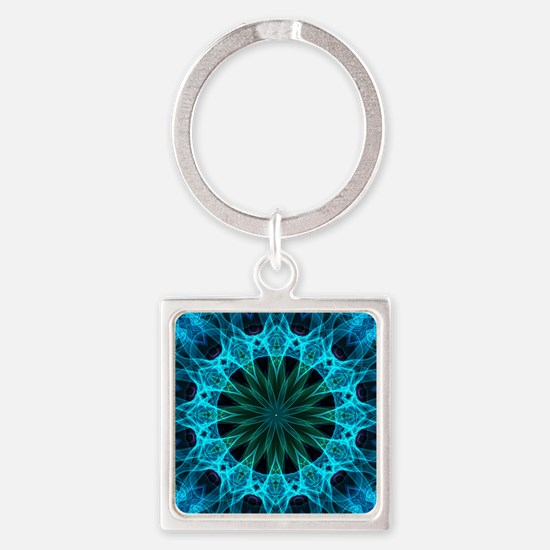 Blue Energy Square Keychain