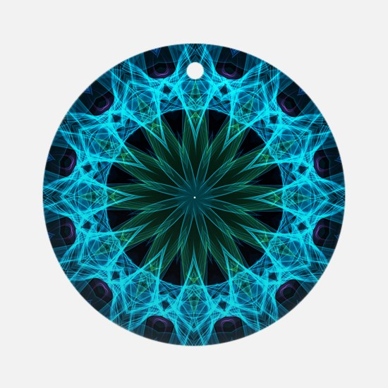 Blue Energy Round Ornament