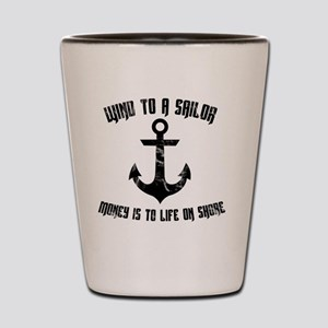 Wind To A Sailor - Black Shot Glass