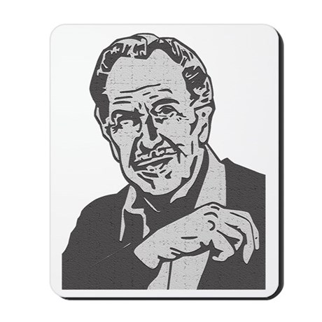 Vincent Price Mousepad