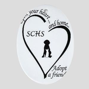 Sanilac County Humane Society Logo Oval Ornament