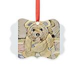 happy little teddy bear Ornament