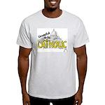 Grateful to be Catholic (Gold) Ash Grey T-Shirt