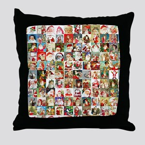 Many Many Santas Throw Pillow