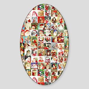 Many Many Santas Sticker (Oval)