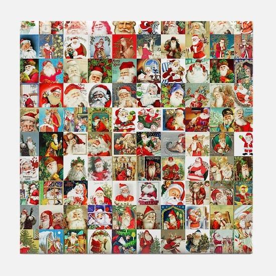 Many Many Santas Tile Coaster