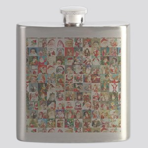 Many Many Santas Flask