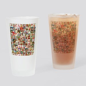 Many Many Santas Drinking Glass